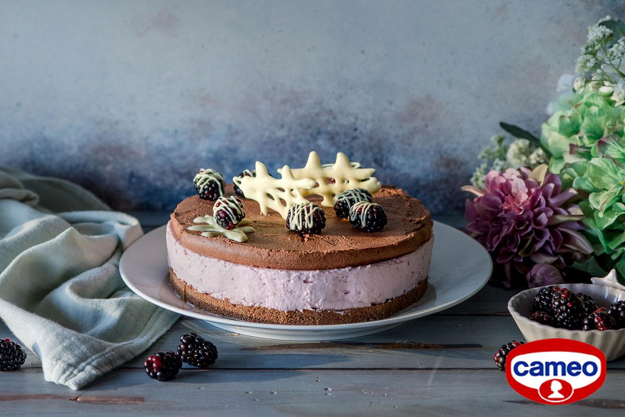 Cheesecake more e cioccolato per cameo